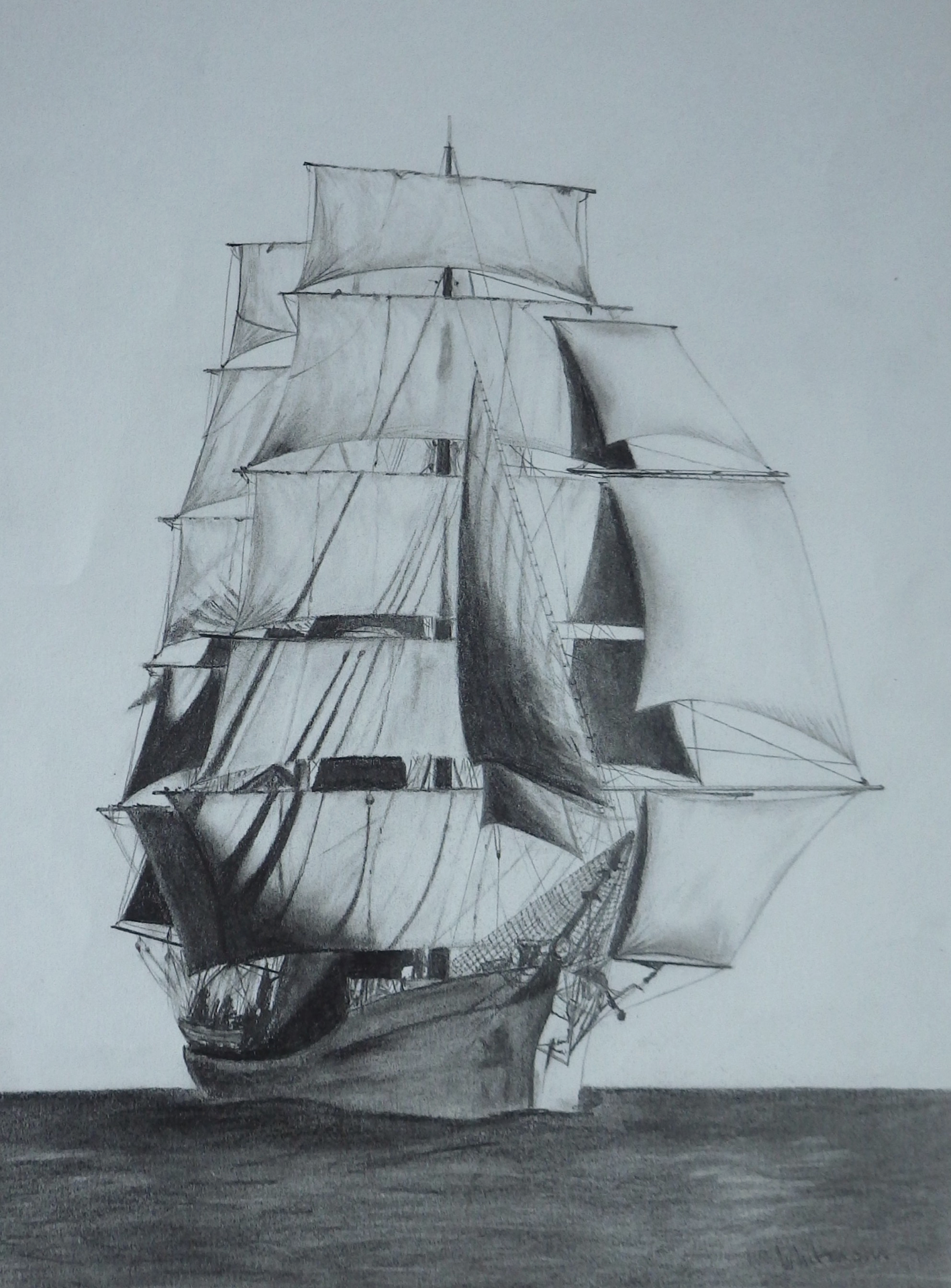 Ship Barque Bolton Diagrams Not Lossing Wiring Diagram Terms Sail Rigging Tall Ships Pinterest 150 Picton Castle Pencil Drawing By Elena Whitman Was Rh Com