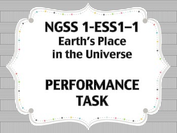 Ngss Ess Performance Task St Grade EarthS Place In The