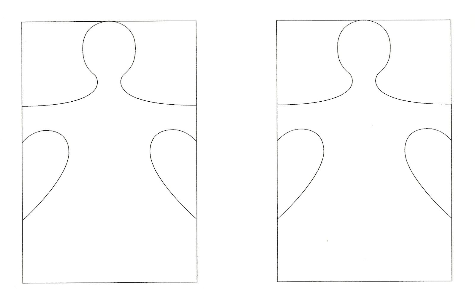 Paper Doll Chain Template 1 Represents Child The Others Are Safe