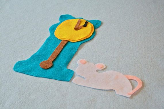 HUGE Hickory Dickory Dock Flannel Story Felt by CakeInTheMorn, $10.00