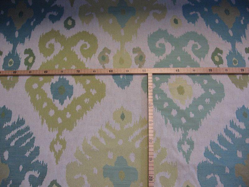 Stoff grafische Muster - Stoff Polsterstoff IKAT Ethno Leinen 06Julie8010 - ein Designerstück von LeSabra bei DaWanda