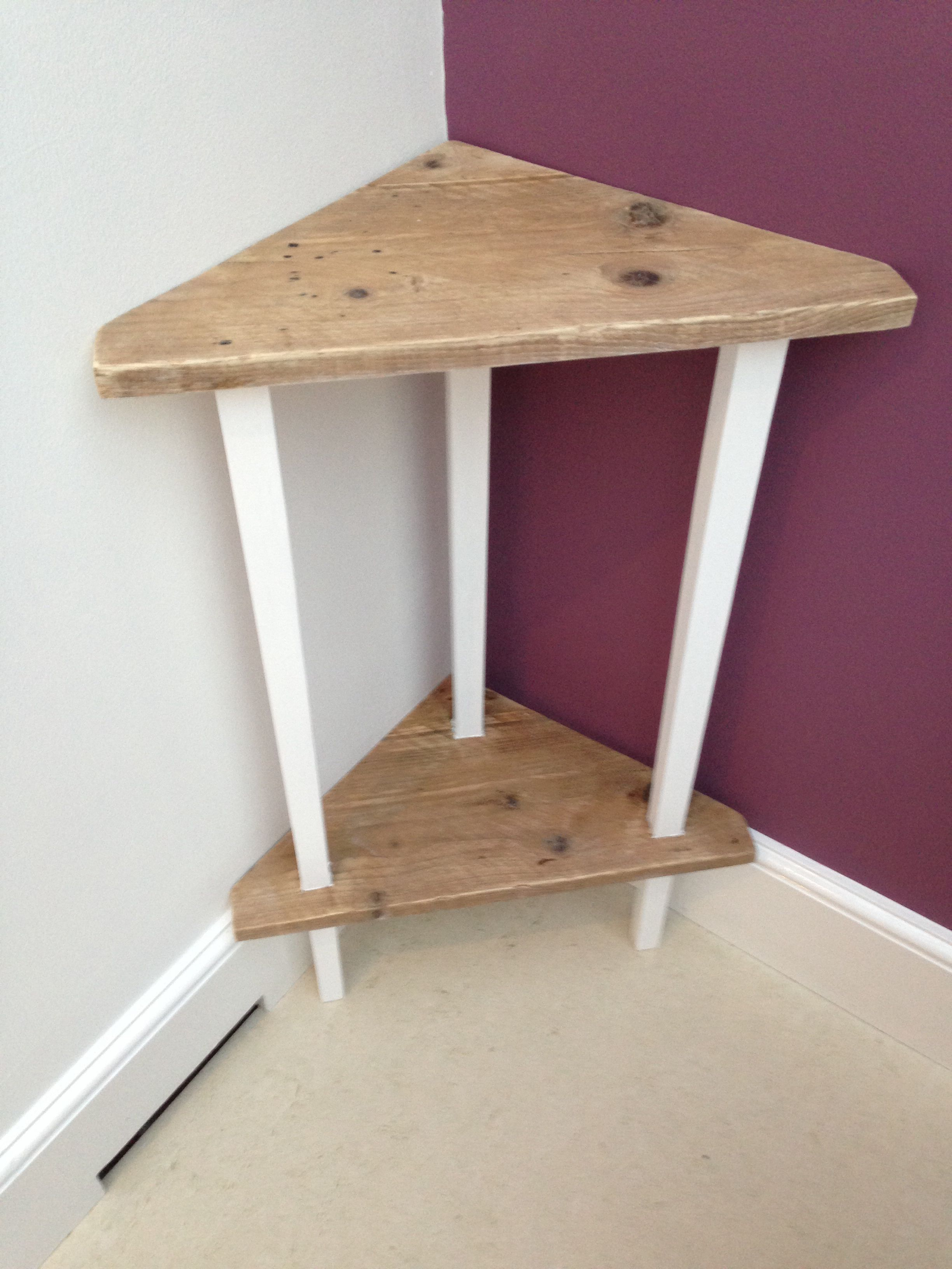 Corner Table With Distressed