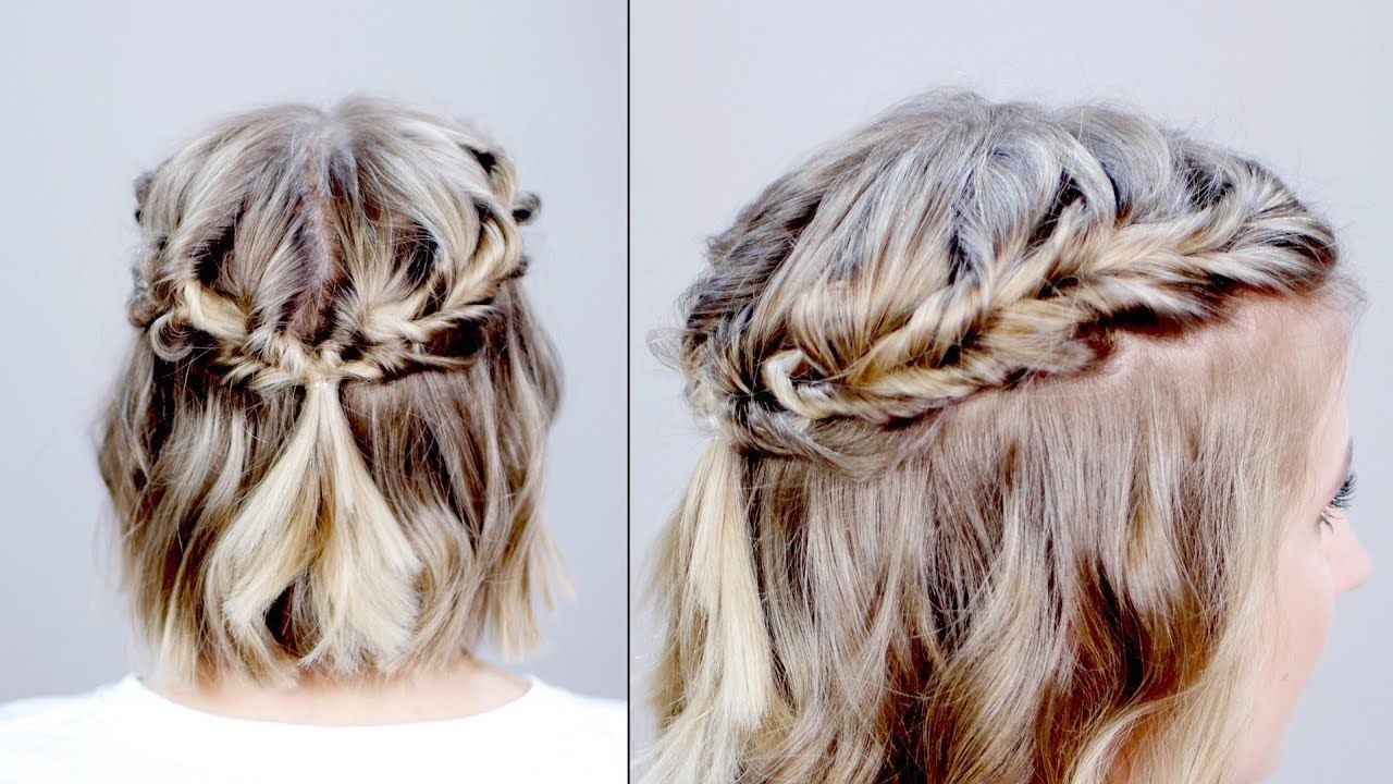 Hairstyle of the day topsy tail crown hairstyle for short