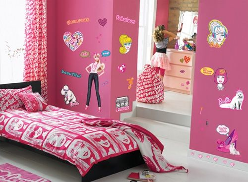 Barbie Room Wallpaper Interior Design Decorating Ideas