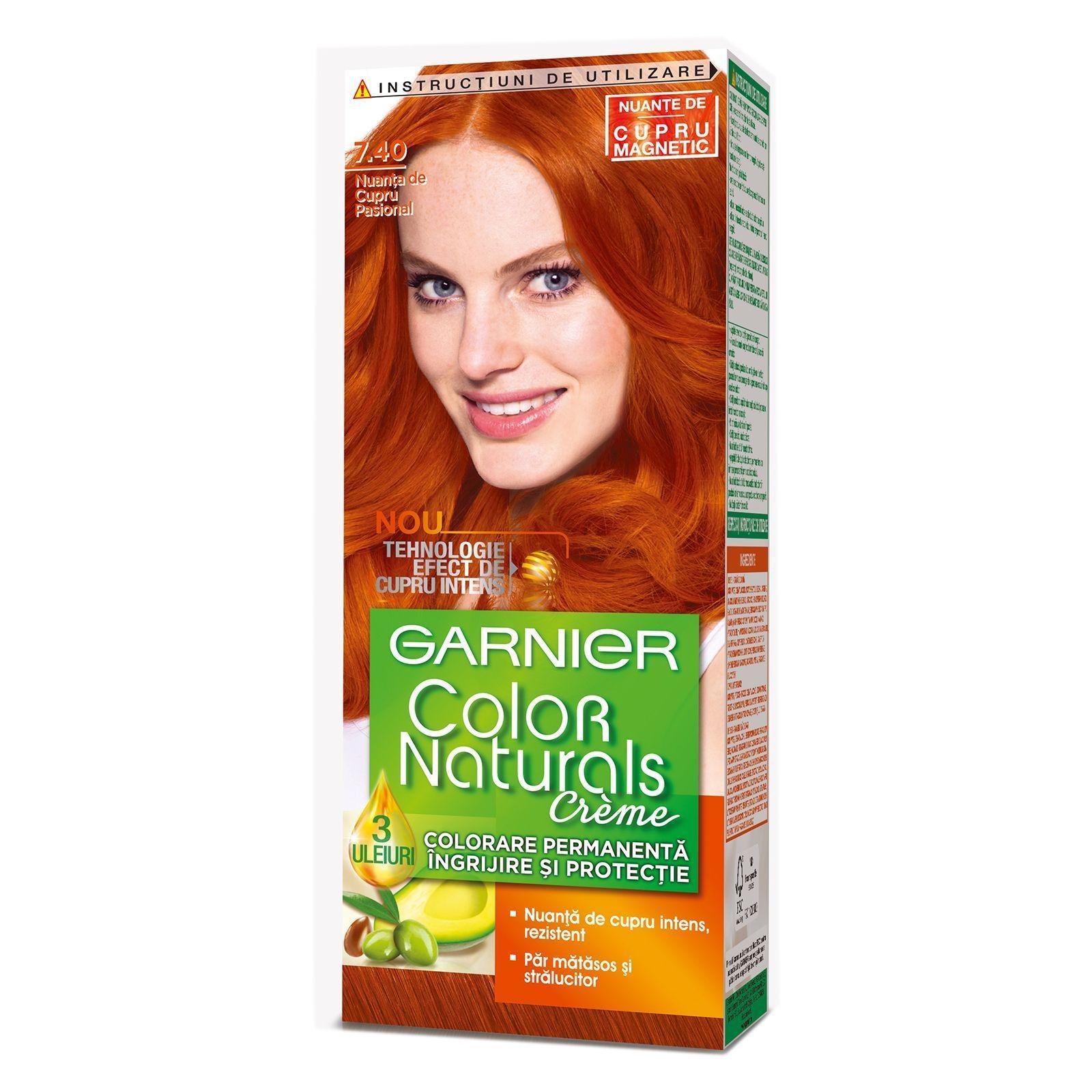12 3 Garnier Color Naturals Creme 7 40 Passionate Copper Hair