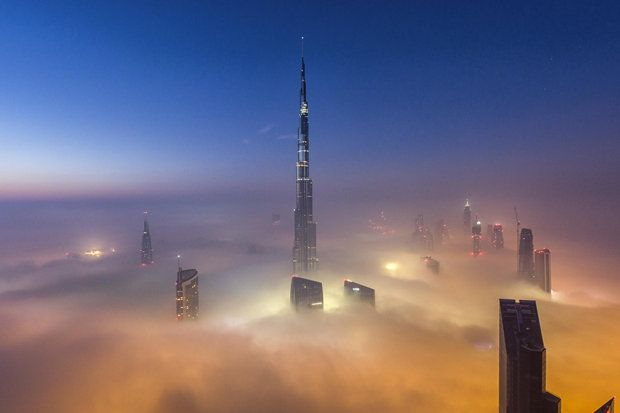 dubai photo in the fog - Google Search