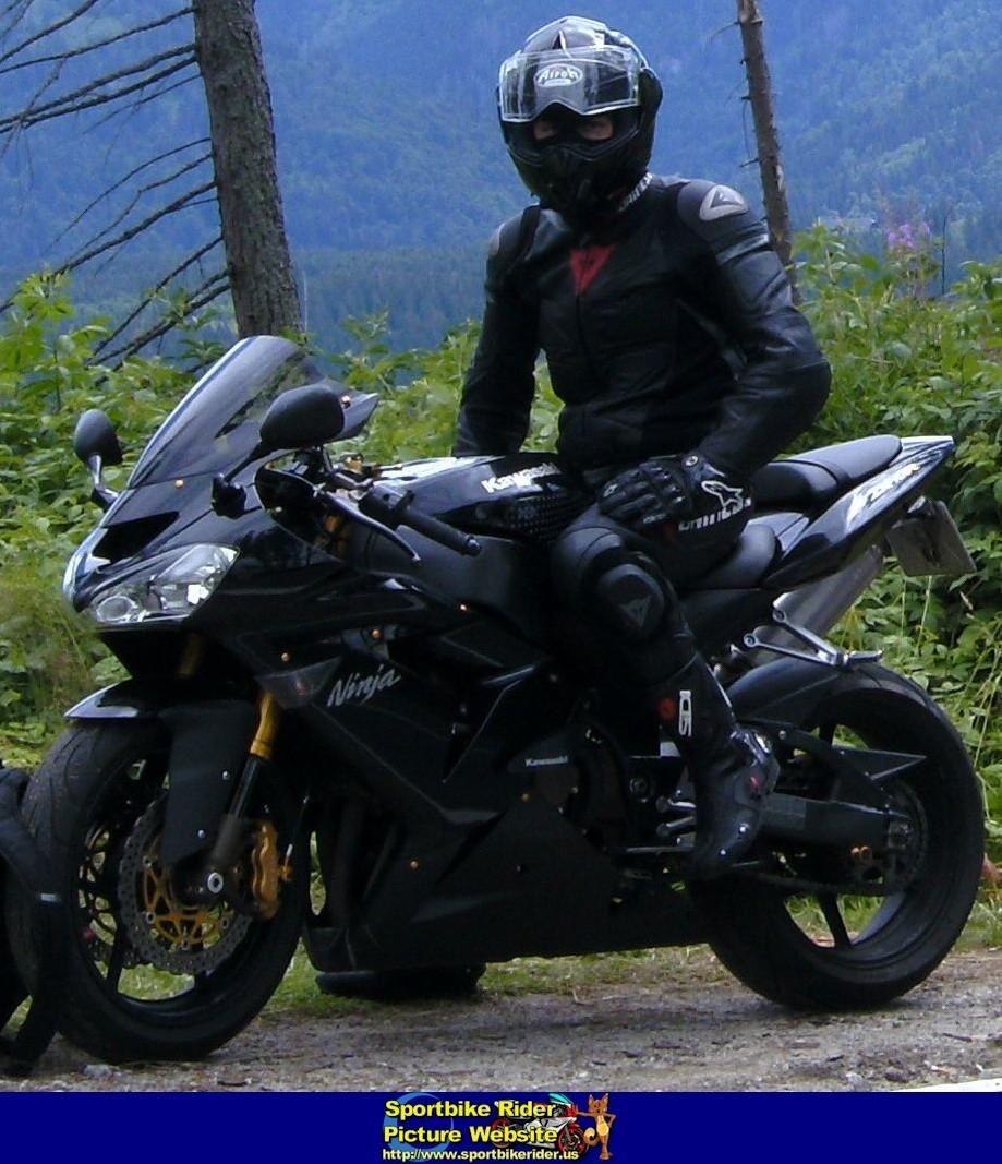 Black Kawasaki Ninja Motard