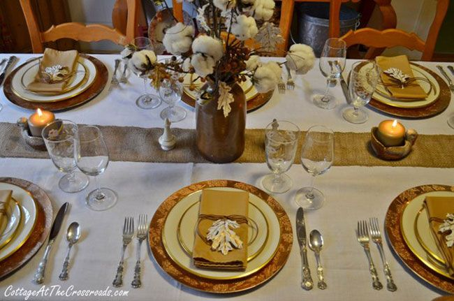 tabletop tuesday fall table setting ideas week 5 gold chargers and white china mix