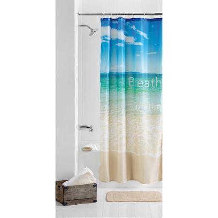 Mainstays Breath Fabric Shower Curtain