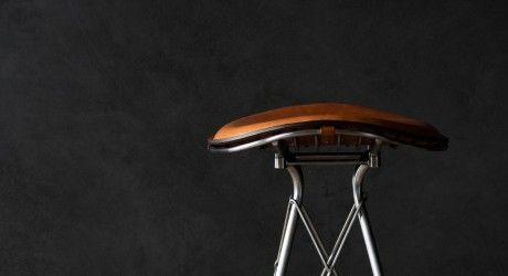 A Bar Stool Inspired By Traditional Saddle Making