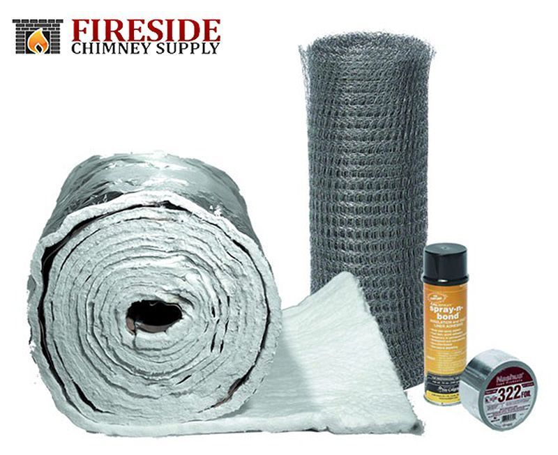 Chimney Liner Insulation Kit 3 To 6 Liners X 25 Ebay Insulation Wrap Fireside Blanket Insulation