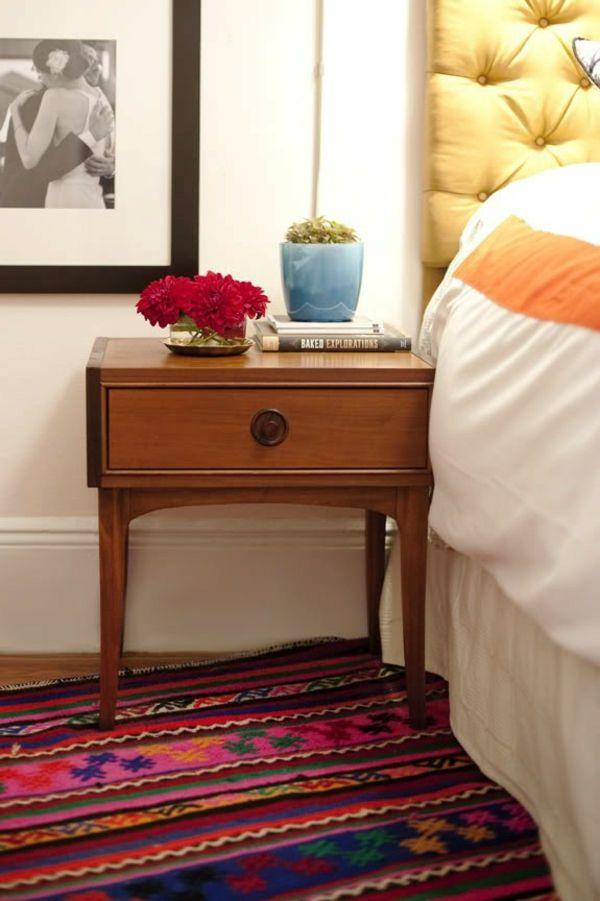 schlafzimmer diy bett kopfteil dekoration gemütlich | DIY Möbel ...