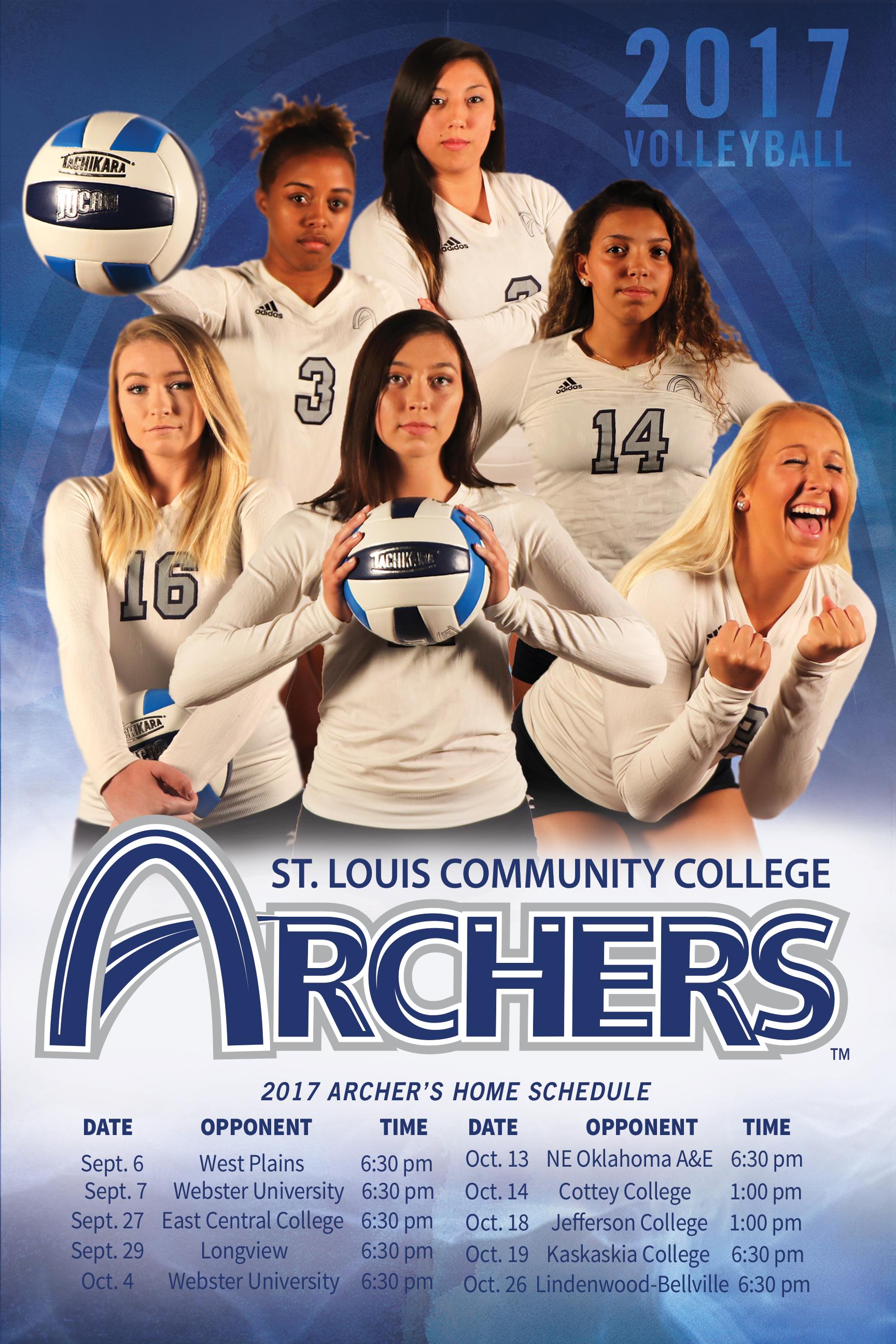 2017 Women S Volleyball Schedule Poster Women Volleyball Volleyball Webster University