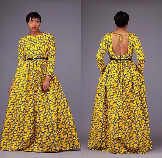 Ankara dress African print women ankara long sleeve full length maxi Dress African dress  African fashion African clothing