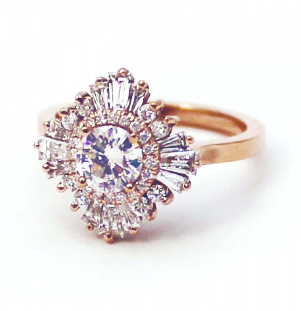 Gatsby petite ring by heidi gibson all diamonds for Mercedes benz 18k gold ring