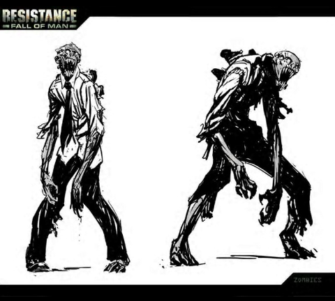 Resistance Fall Of Man Zombies Concept The Falling Man Concept Art Concept Art World