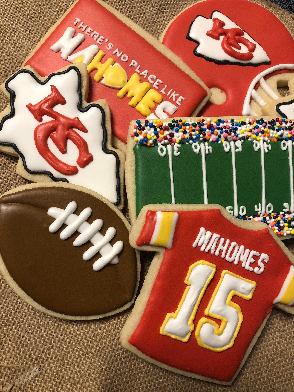 Kansas City KC Chiefs football cookies Playoff Tailgate assortment Super Bowl