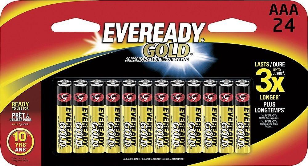 Eveready Alkaline Aaa Size General Purpose Batteries 24 Pack Cool Things To Buy Aaa Batteries Aaa