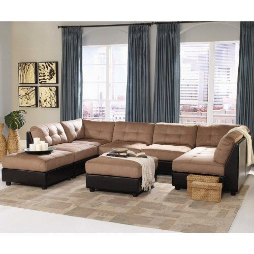 Best Coaster Claude Contemporary Two Tone Sectional Sofa 400 x 300