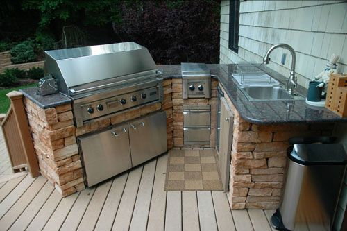 small attached to house   Outdoor kitchen cabinets, Outdoor ...