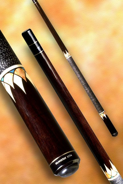 Mcwortercues Com 1174 The Two Tone Crown Pool Cue By Jerry