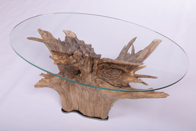 Table Basse Racine Et Verre Table Souche Deco Bois Racines Arbre