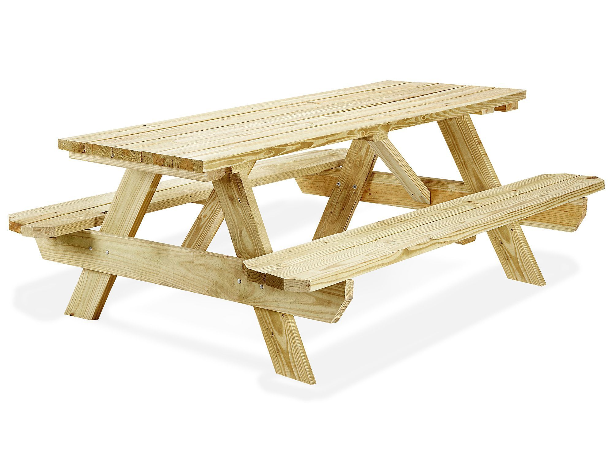 Economy A Frame Wooden Picnic Table 6 H 2999 Uline