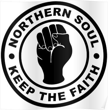 Northern Soul Keep the Faith Wall Art Quote Vinyl Decal Sticker