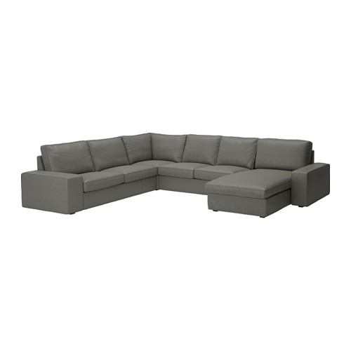 kivik sectional 5 seat corner with chaise borred borred gray
