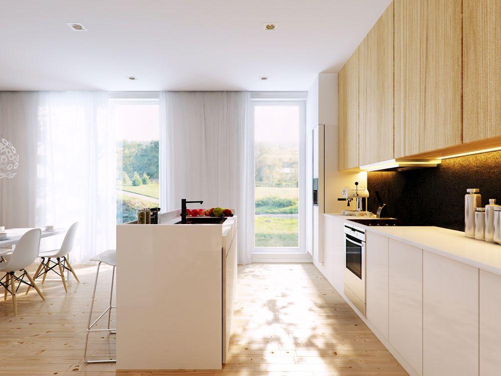 Modern White Wood Kitchen Cabinets ponad 1000 pomysłów na temat: modern open kitchens na pintereście