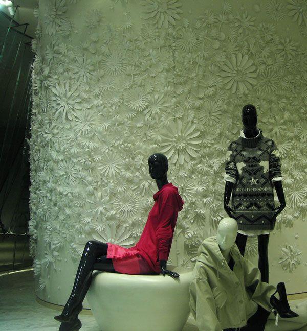 Paper flower wall by Jo Lynn Alcorn