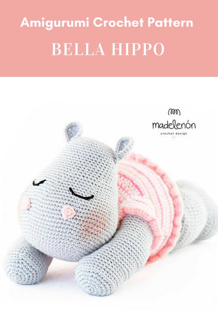 Bella Hippo | crochet o ganchillo | Pinterest | Muñecos en crochet ...
