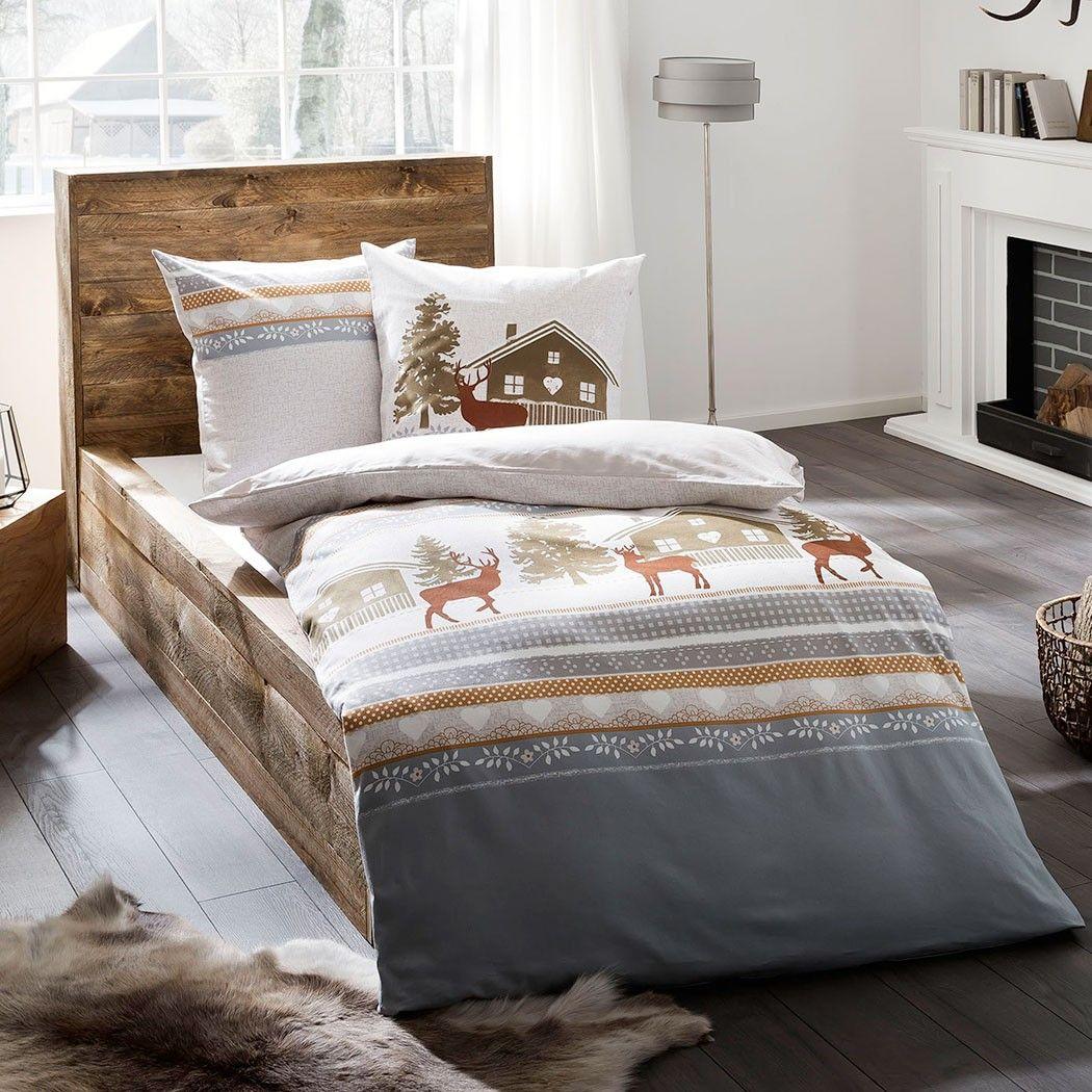 Das Design Dieser Winterlichen Kaeppel Biber Bettwäsche Snow Lodge ...