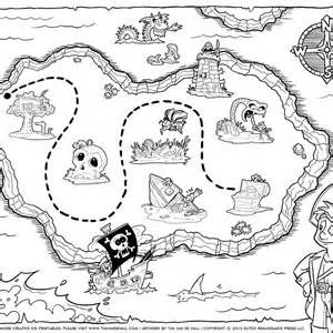 Maps And Party Favors Coloring Page 132739 Pirate Map