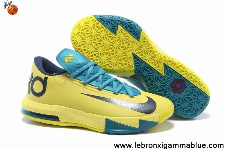 Cheap Nike Kevin Durant 6 Shoes Yellow Blue Black, cheap Nike KD 6 Shoes,  If you want to look Cheap Nike Kevin Durant 6 Shoes Yellow Blue Black, ...