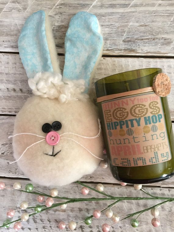 Easter Candle made out of recycled wine bottles by Napauncorked
