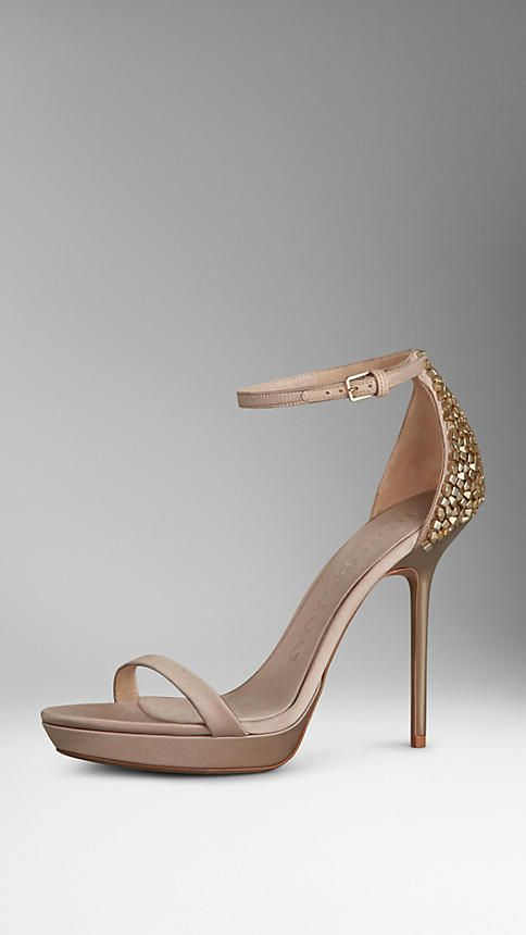 Burberry Satin Embellished Sandals free shipping prices apo901k