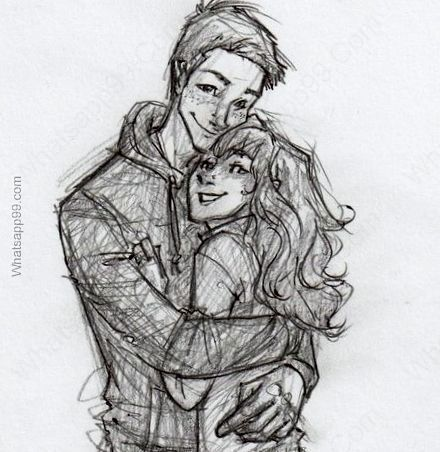 guy hugging girl sketch - Google Search
