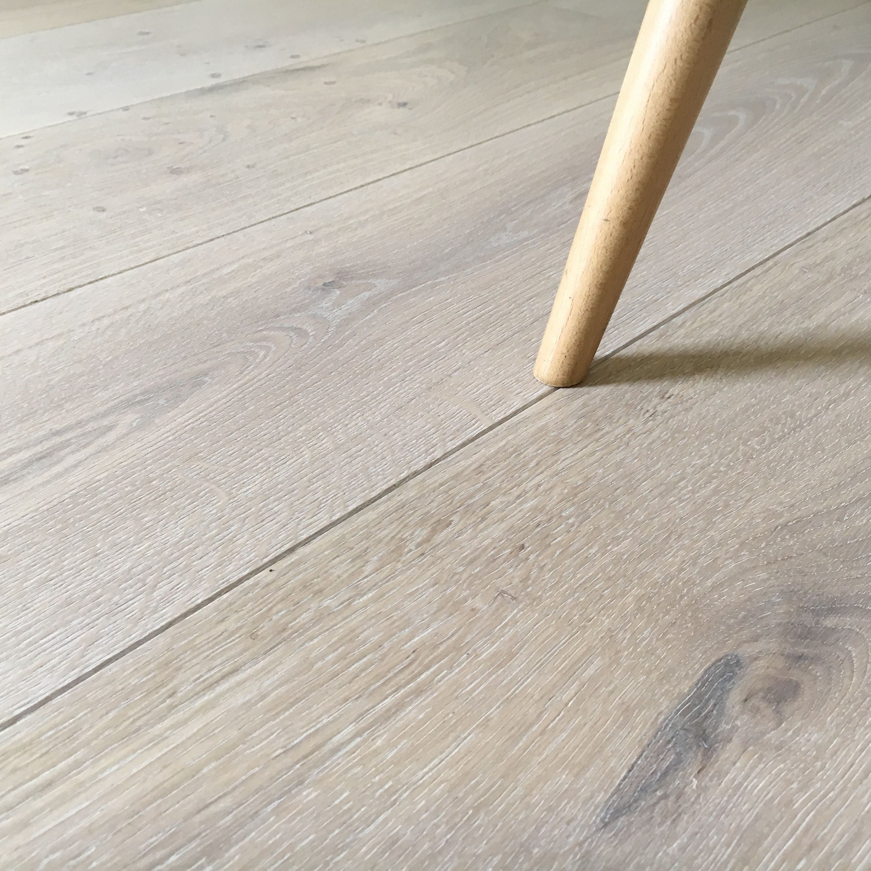 Engineered Oak flooring with a bespoke white wash oil