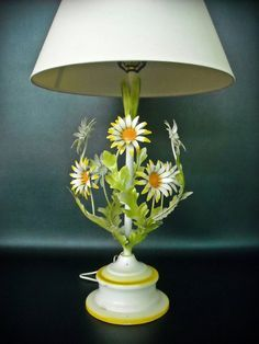Image Result For Vintage Lampshades Metal Flowers Mcm Table Lamps