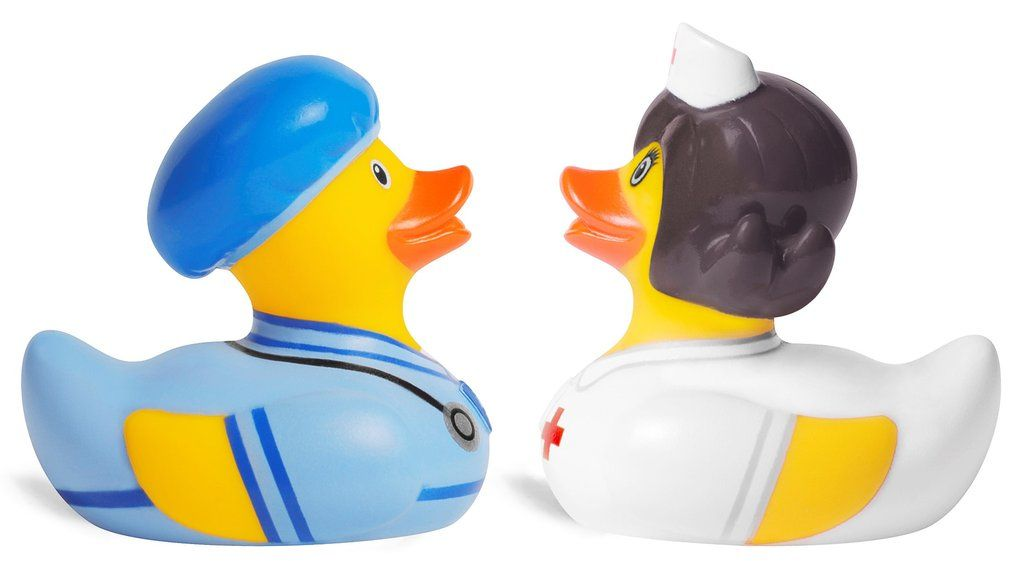Bud Duck Luxury Baby 10cm Collectable Bath Toy Ducks Novelty Fun Collectors Gift