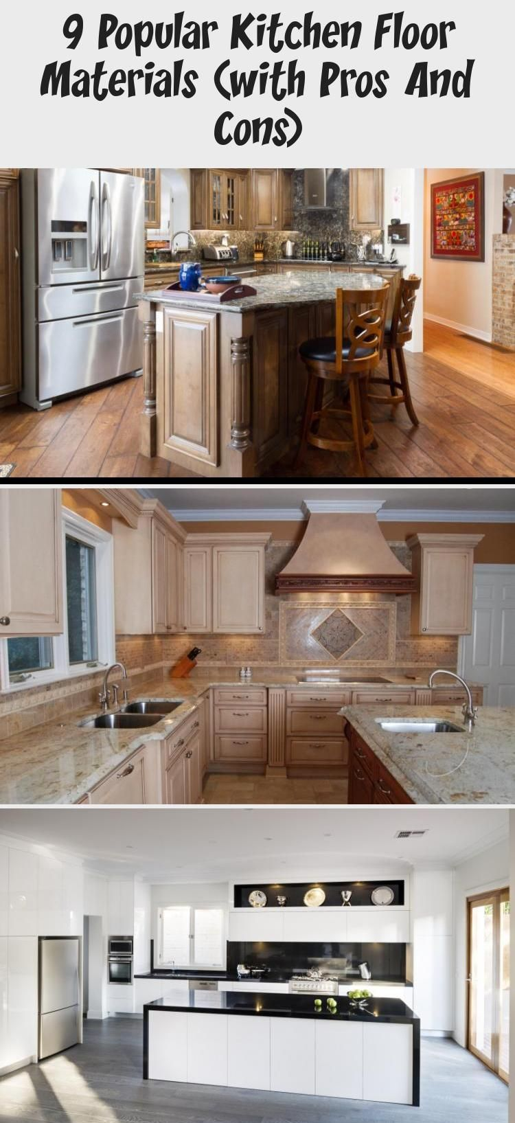9 Popular Kitchen Floor Materials With Pros And Cons In 2020 Kitchen Flooring Popular Kitchens Kitchen Marble
