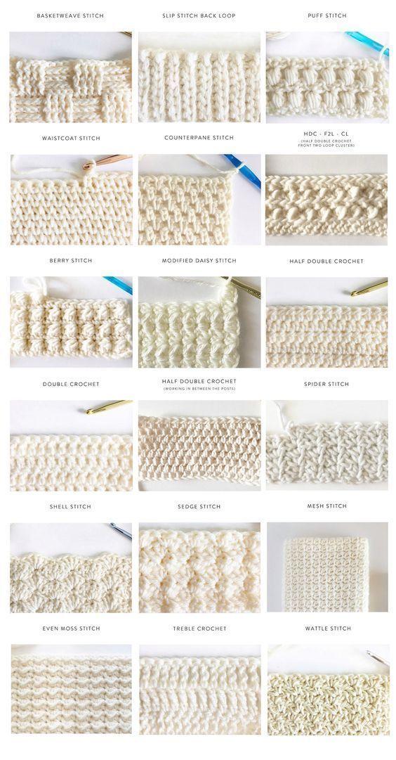 40 Free Crochet Stitches from Daisy Farm Crafts - Salvabrani #embroiderypatternsbeginner