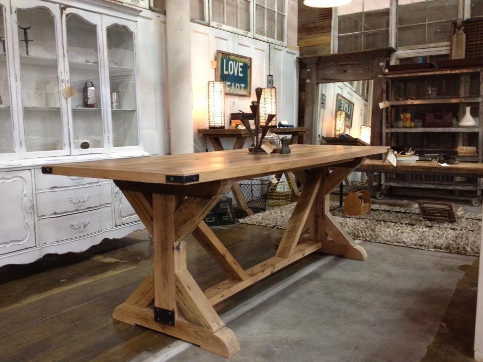 Farmhouse U0026 Company: Fabulous, Reclaimed Furniture. Reclaimed Dining  TableTrestle ...