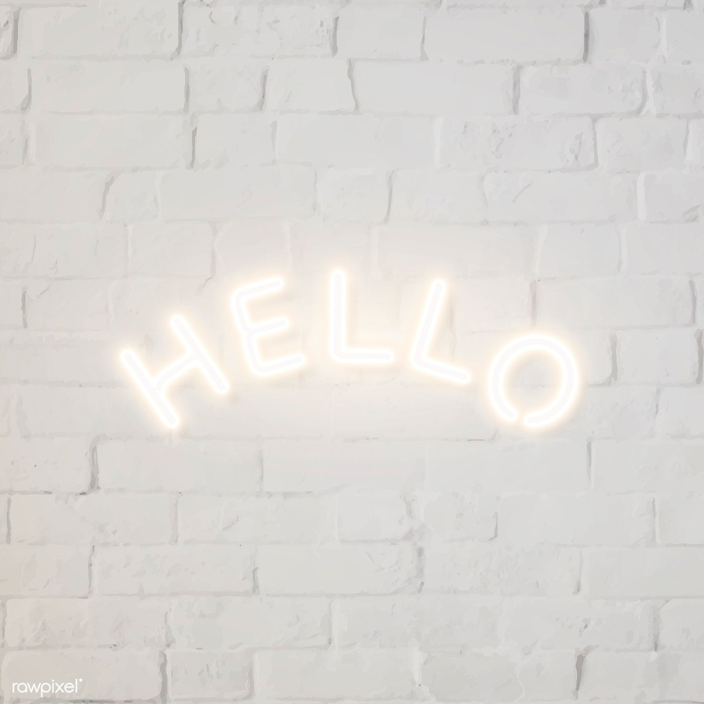 Download Premium Vector Of White Hello Neon Sign Vector 2093995 In 2020 Black And White Photo Wall Black And White Picture Wall Photo Wall Collage