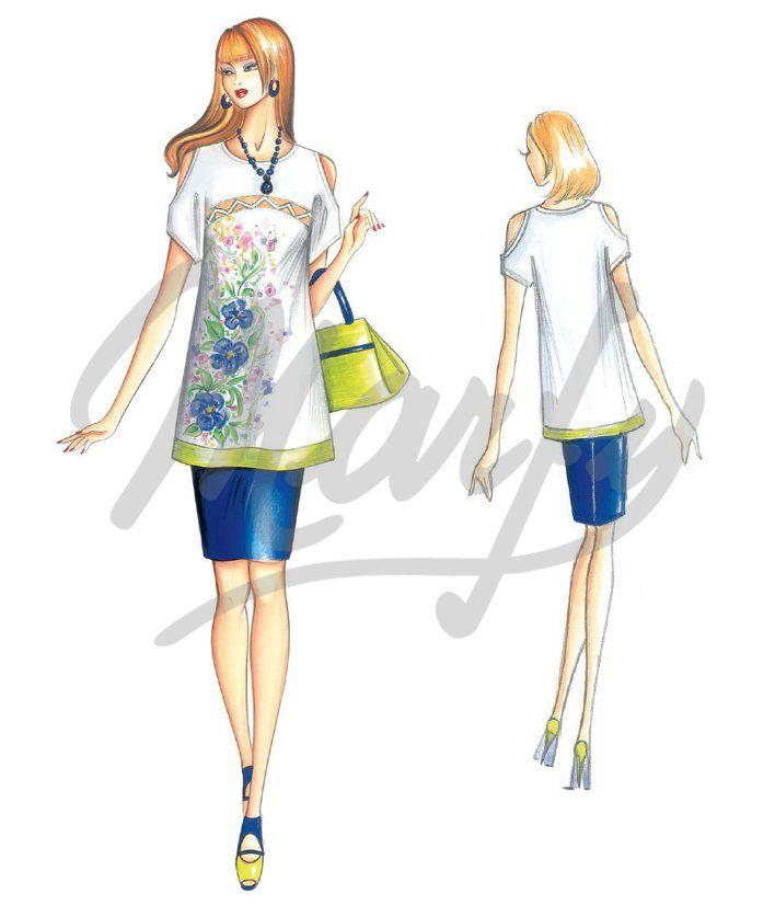 Model 3400 PDF | Sewing Pattern Shirts / Tunic | Moda | Pinterest ...