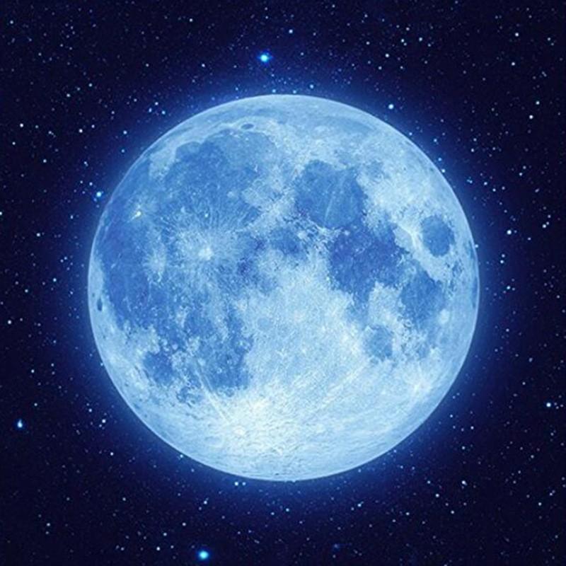 Wholesale Blue Moon 5d Diky Diamond Painting Kit Full Blue Moon Night Sky Moon Blue Moon