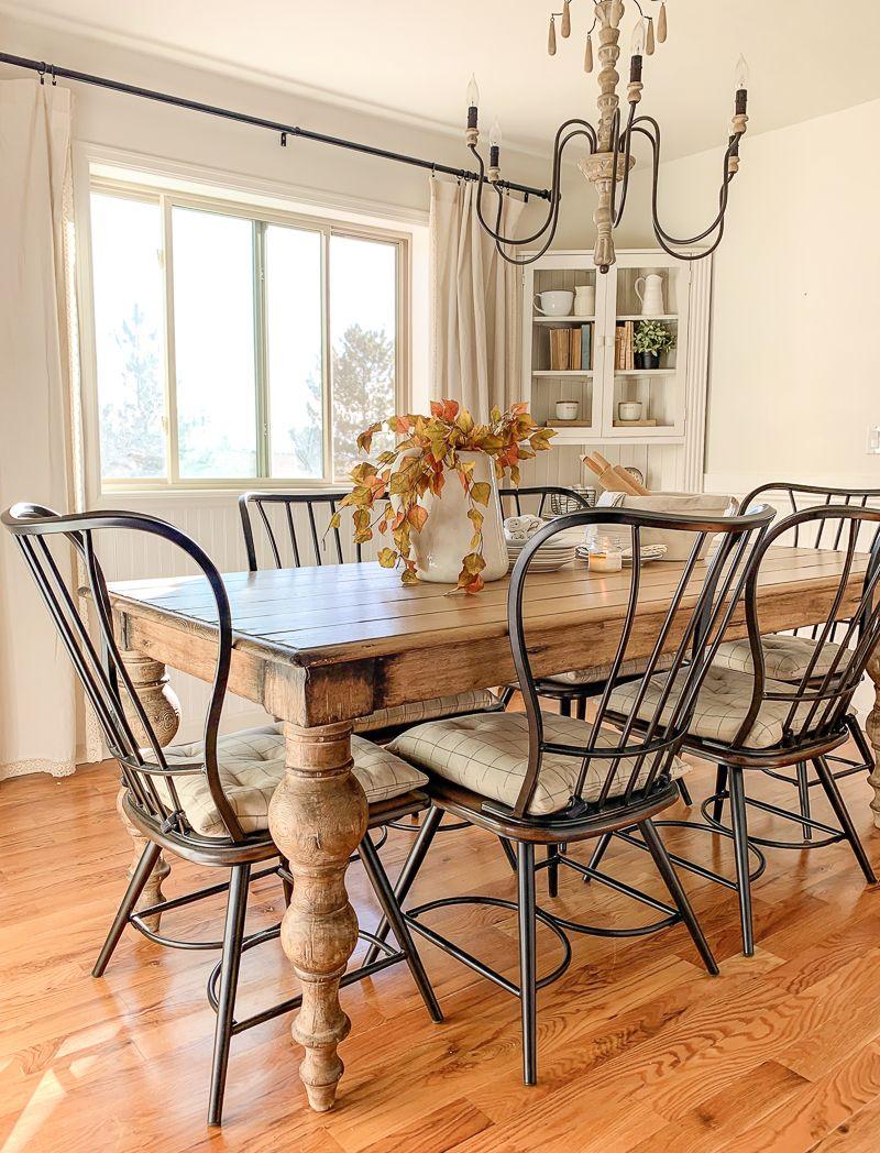 New Dining Room Look! #farmhousediningroom