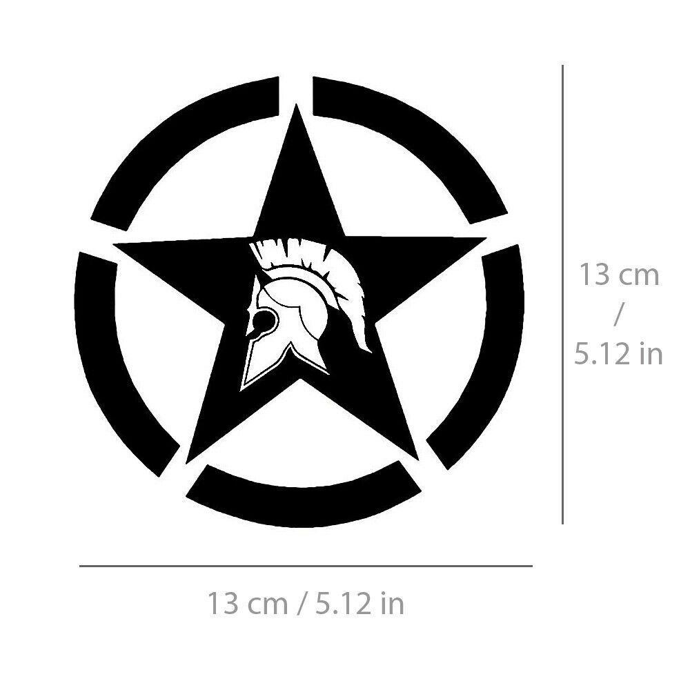 Spartan Star Sticker Sparta Army Decal Vinyl For Car Bike Truck Black White 13cm Unbranded Vinyl For Cars Star Stickers Sparta Army [ 1000 x 1000 Pixel ]