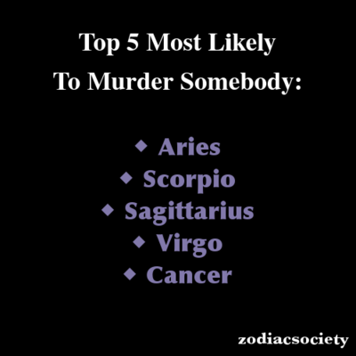 Zodiac more to sign is what kill likely Zodiac Signs